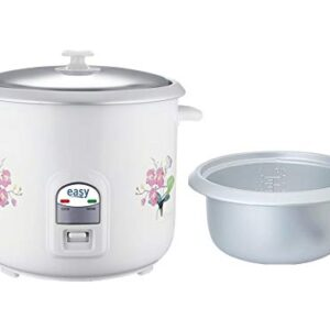 Easy RC1.8 700-W 1.8 Liter Electric Rice Cooker with 2 Aluminium Bowls (One Bowl is Free) & 1 Year Warranty (White…