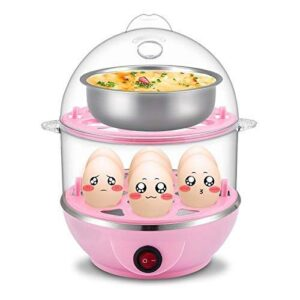 FFN Food Funn Double Layer 14 Egg Electric Cooker Plastic Egg Steamer for Home Food Boiling Cooker with Measuring Cup…