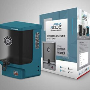 BLUE WATER Aqua Jade Wall Mountable RO+Copper alkaline +TDS 15L Water Purifier, Blue color available