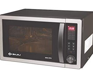 Bajaj 25 Litres Convection Microwave Oven with Jog Dial (2504 ETC, Silver Grey)