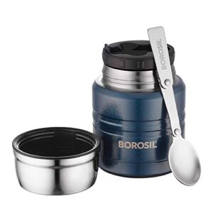 Borosil - Food Fresh Stainless Steel Insulated Lunch Box, 350ml, Blue