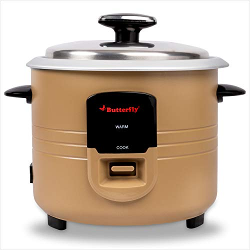 Butterfly 8906022176520 1.8L Electric Rice Cooker, Gold