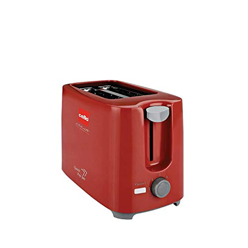 Cello Quick 2 Slice Pop Up 300 Toaster (Red)