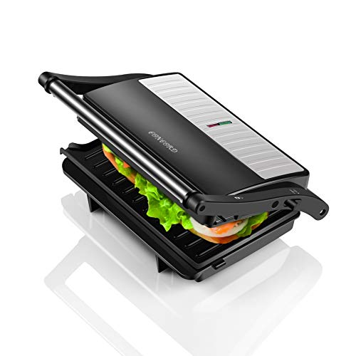 Concord Sandwich Maker/Grill 1000 Watts (with 180° Opening, Oil Drip Tray and1.5 Metre Long Cord)