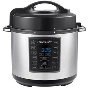 Crock-Pot Express Electric Pressure Cooker 12-in-1 Programmable Multi-Cooker Stainless Steel Slow Cooker Steamer and…