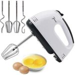 Easymart Electric Hand Mixer and Blenders with Chrome Beater and Dough Hook Stainless Steel Attachments – Speed Setting…