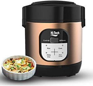 Hi-Tech Electric Multi programmable Mini Cooker 1 Litre with Pot, Instant Access to Recipe app, Slow Cook, Rice Cooker…