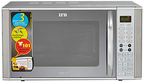IFB 30 L Convection Microwave Oven (30SC4, Metallic Silver), STANDARD