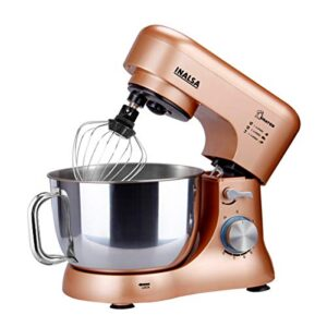 Inalsa Kratos 1000W Stand Mixer with Whisking Cone, Mixing Beater & Dough Hook, Champagne