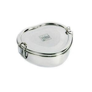 JVL Stainless Steel Single Layer Heart Lunchbox – Small