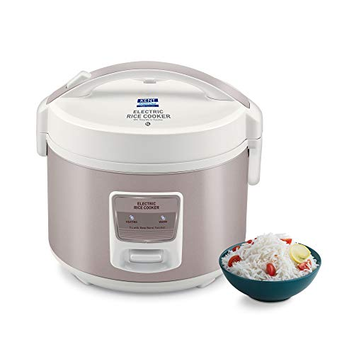 Kent 16014 Electric Rice Cooker 5 L   One Touch Automatic Cooking   High Quality and Non-stick Cooking Pot   Keep Warm…