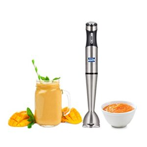 KENT Hand Blender Stainless Steel 400W (16044), Variable Speed Control, Stainless Steel Body, Low Noise Operation, Easy…