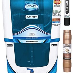 Konvio Neer Amrit RO + UV + UF + TDS Adjuster Water Purifier with Japanese UV and High 3000 TDS Membrane (Blue Alkaline)