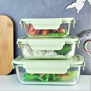 Mapple Leaf Glass Food Storage Container with Airtight Lid , Glass Rectangular Storage/Serving Bowl Set Lunch Tiffin Box…