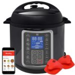 Mealthy MultiPot 9-in-1 Programmable Electric Pressure Cooker with Stainless Steel Pot, Steamer Basket and Instant…