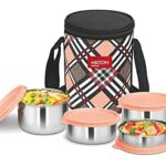 Milton Smart Meal Insulated Lunch Box, Set of 4, Orange