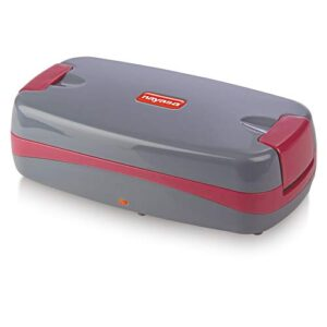 Nayasa Quick Heat Slim Electric Tiffin with 2 Stainless Steel Containers (Maroon)