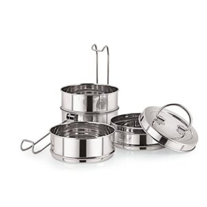 Neelam Stainless Steel Lunch Box/Traditional Tiffin Box for School/Office- 7 x 4