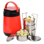 Oliveware Jumbo Lunch Box - 4 Containers | Full Set Office Use | Insulated Body | Leak Proof & Microwave Safe | Full…