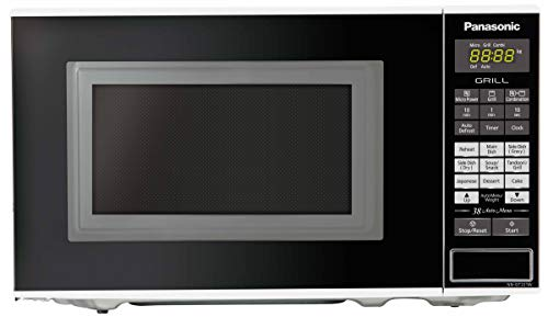 Panasonic 20L Grill Microwave Oven(NN-GT221WFDG,White, 38 Auto Cook Menus )