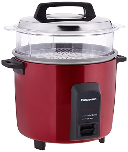 Panasonic SR-Y22FHS 750-Watt Automatic Electric Cooker with Non-Stick Cooking Pan (Burgundy)