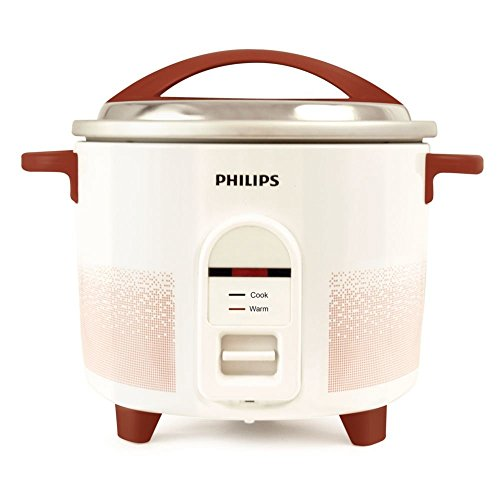 PHILIPS HL1663/00 1.8-L Electric Rice Cooker (White/Red)