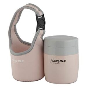 Pinnacle Pandora Vacuum Insulated Food Containers (380ml) for Baby Food & Kids' Meals (Pink)