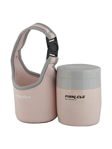 Pinnacle Pandora Vacuum Insulated Food Containers (380ml) for Baby Food & Kids' Meals (Pink) Stainless Steel
