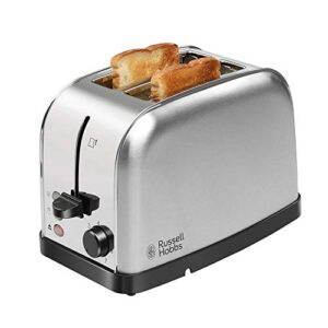 Russell Hobbs 18780 720/850 Watt Premium Stainless Steel 2 Slice Automatic Pop-up Toaster with 2 Year Manufacturer…