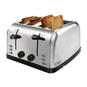 Russell Hobbs 18790 1W 4 Slice Automatic Pop-Up Toaster, Silver