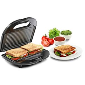 Russell Hobbs RST750GR – 750 Watt Non-Stick Crispy Grill Sandwich Toaster for Multi Snacks with Fixed Grilled Plate and…