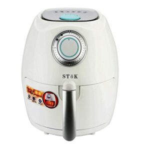SToK 2.6 Liters 1350W Air Fryer With Smart Rapid Air Technology & Double Layer Grill, White