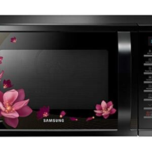 Samsung 28 L Convection Microwave Oven (MC28H5025VP/TL, Black with Magnolia Pattern, Slim)