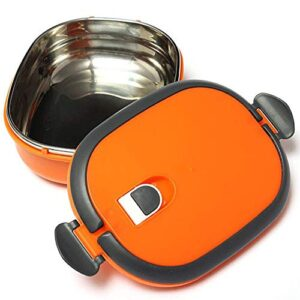 Sillyme Stainless Steel Lunch Box Single/Two Layers Rectangle Stainless Steel Lunch Box Insulated Thermos Bento School…