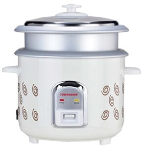 SOWBAGHYA 558001 1.8L Rice Cooker with Inner Pot, White