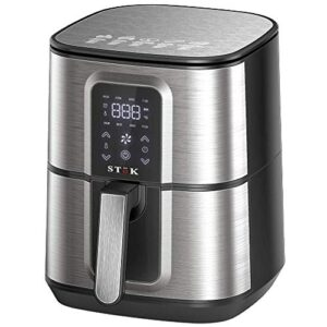 Stok Air Fryer Max LED Digital Touchscreen with 8 Presets,6.5 Liter 1800-Watt Electric Hot Air Fryers Oven & Oil-Less…
