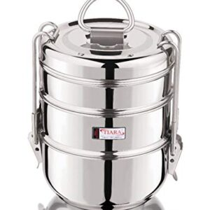 TIARA – 1PC Pearl Stainless Steel Tiffin, Lunch Box -3 Layer