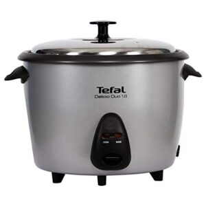 Tefal 700W Delicio Duo Rice Cooker with 2 Cooking Bowls , 1.8L (Silver)