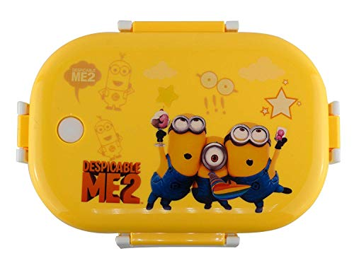 Toyboy Cartoon Print Insulated Stainless Steel Kids Lunch Box - Yellow